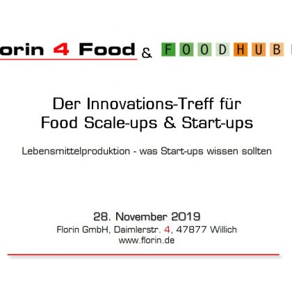 Florin 4 Food & FoodHub NRW am 28. November 2019